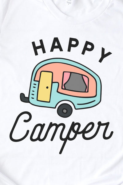 Happy Camper Tee for Girls