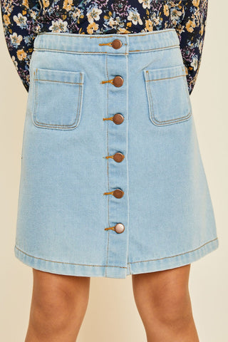 Jamee Light Denim Skirt