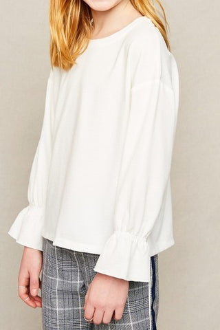 Megan Ruffled Cuff Top