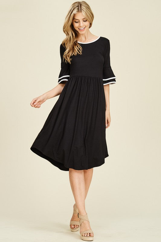 Susy Ruffled Sleeve Dress