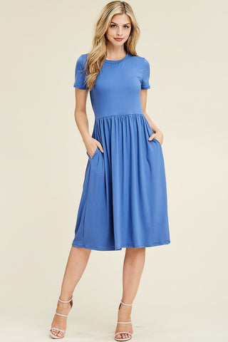 Lilo Short Sleeve Dress in Riverside