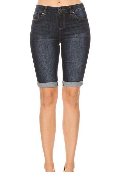 Kirby Bermudas in Dark Denim