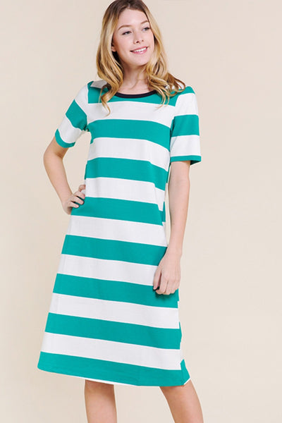 Compton Stripe Tee Shirt Dress