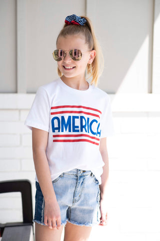America Tee for Girls