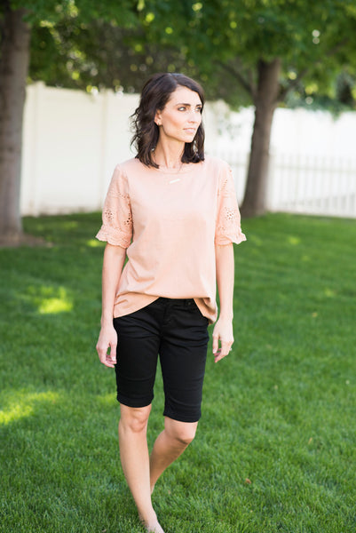 Leila Eyelet Sleeve Top