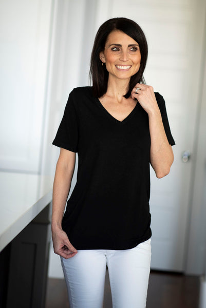 Becca V Neck in Black