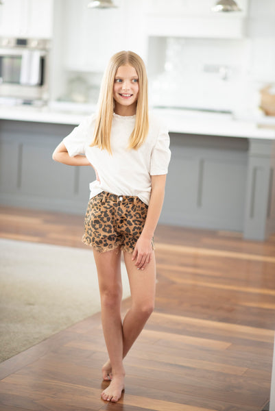 Animal Print Shorts for Girls
