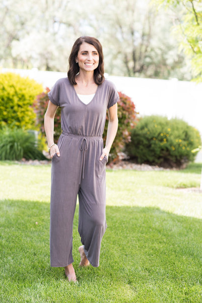 Jo Jumpsuit in Dark Plum
