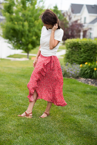 Mallorie Floral Wrap Skirt