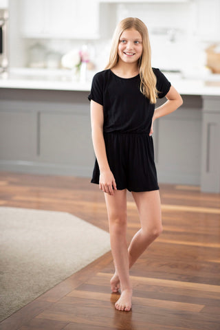 Haven Romper in Black