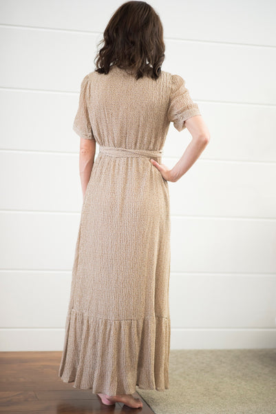 Cecie Textured Maxi in Taupe