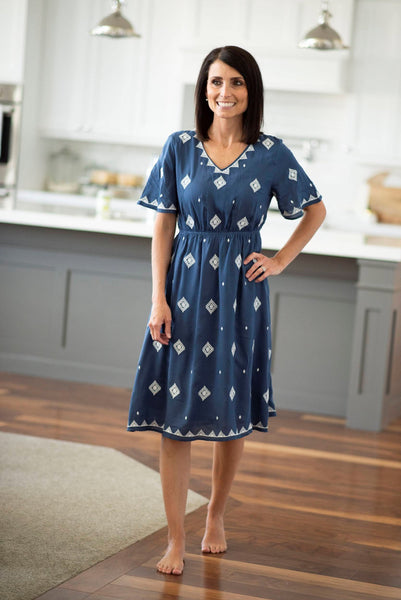 Brie Embroidered Dress