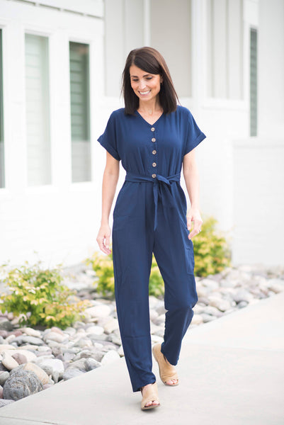 Janeal Jumper in Navy