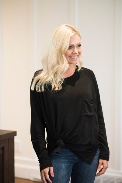 Jen Knit Top in Black