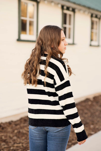 Camila Stripe Chenille Sweater