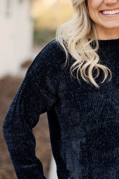 Margo Sweater with Scallop Hem