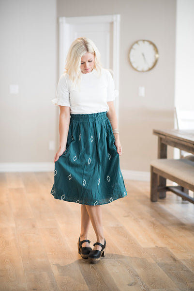 Staci Diamond Skirt in Teal