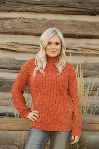 Anita Raglan Sweater in Rust
