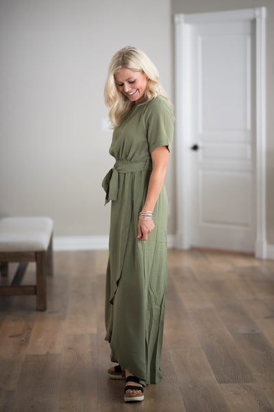 Belle Dress in Olive