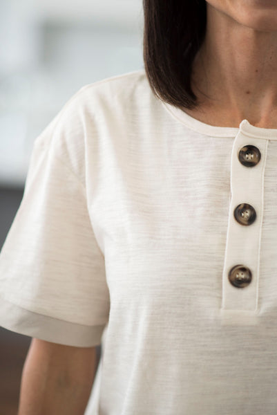 Alfie Button Top