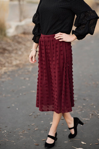 Britta Swiss Dot Midi Skirt