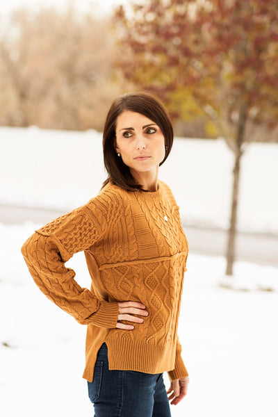 Aria Sweater in Camel
