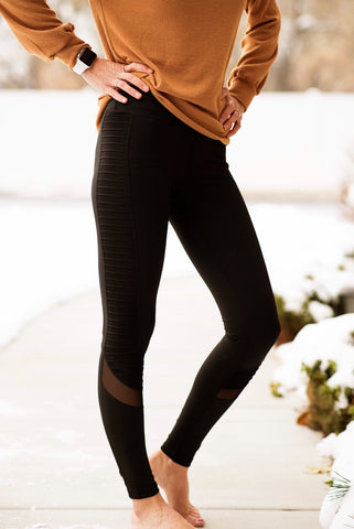 Motto Full Length Leggings in Black