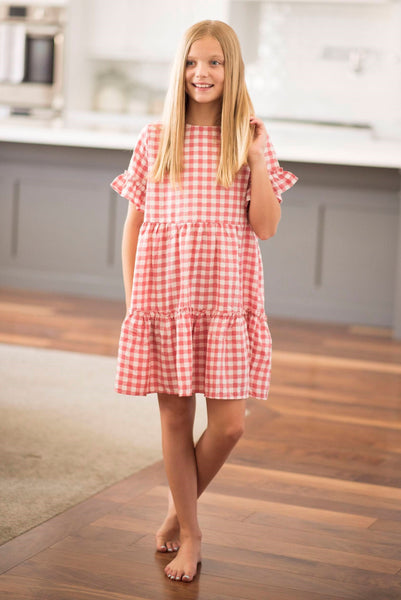 Kesley Gingham Plaid Dress