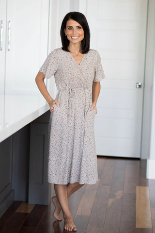 Loralee Floral Wrap Dress
