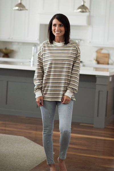 Roswell Stripe Pullover
