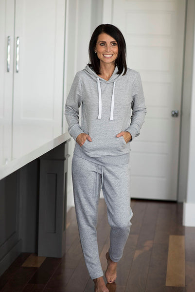 Natalie Hoodie Sweatshirt in Heather Grey