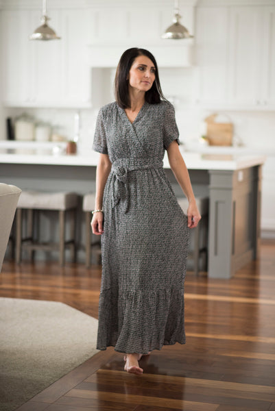 Cecie Textured Maxi in Black