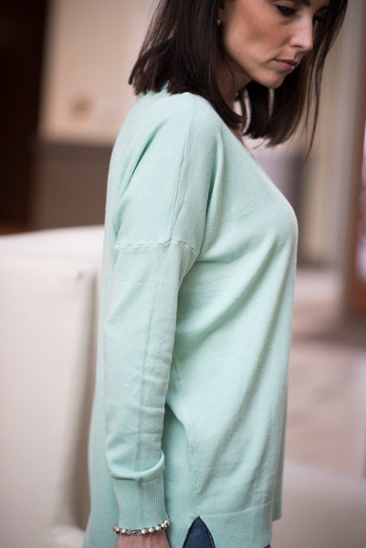 Naomi Tunic Sweater in Mint