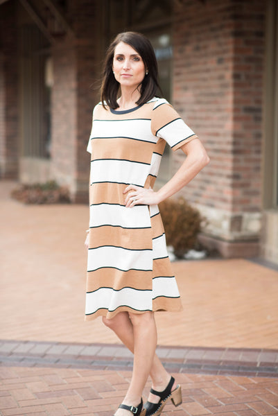 Darci Knit Stripe Dress