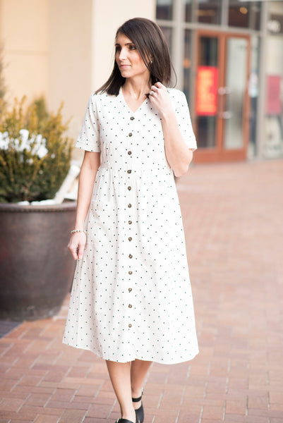 Marley Polka Dot Dress in White