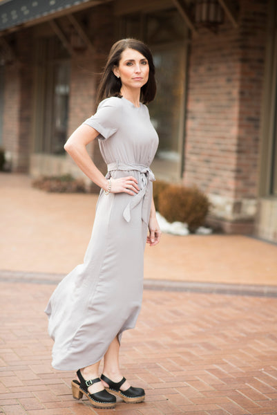 Belle Dress in Grey