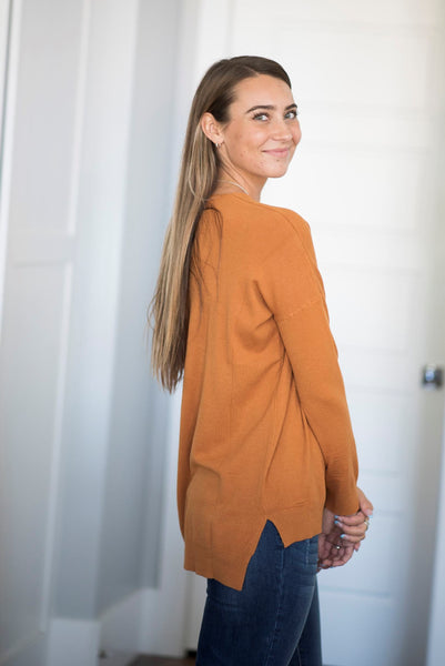 Butler Sweater in Pale Caramel