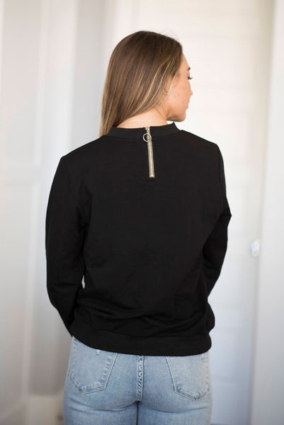Lizza Pullover in Black