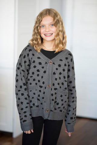 Animal Dot Sweater for Girls