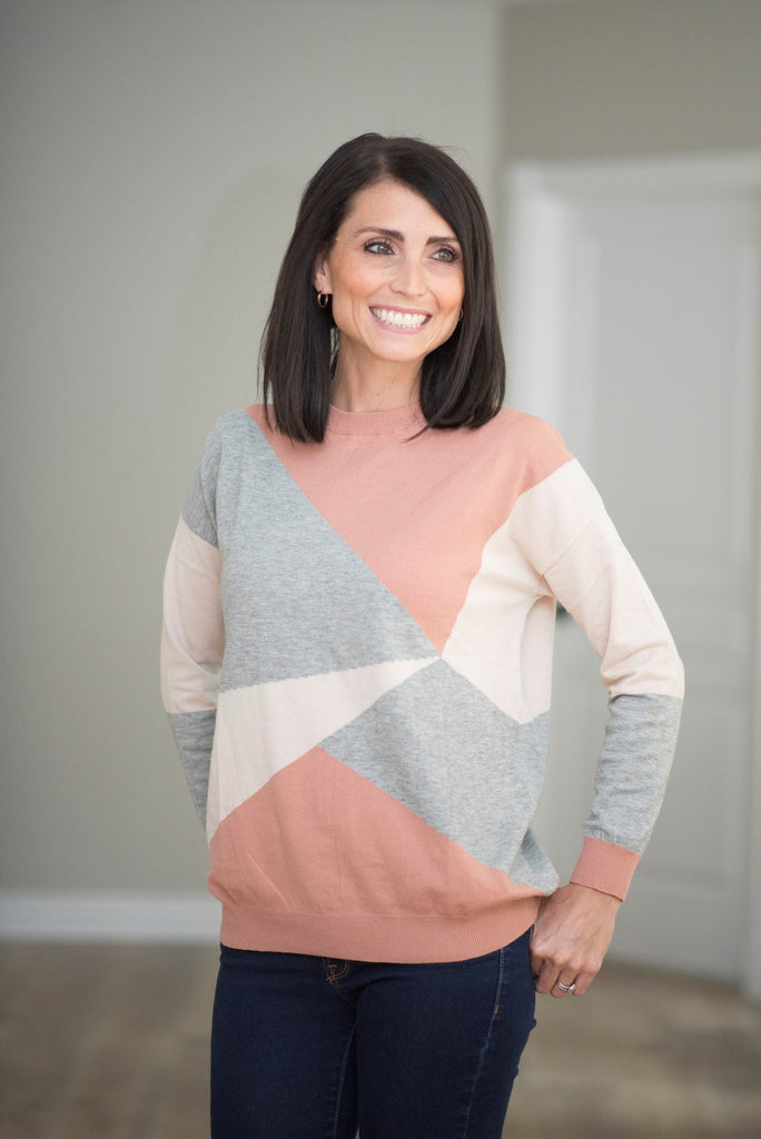 Claire Geometric Sweater