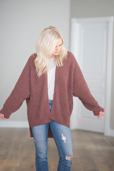 Stormy Cardigan in Mauve