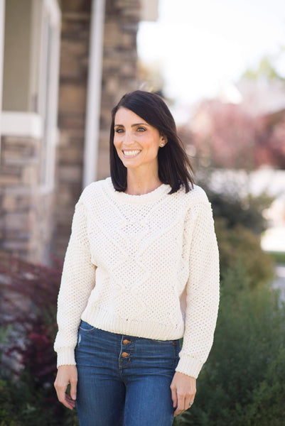 Bennett Sweater in Ivory