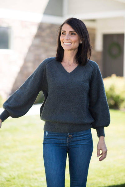 Lexie Sweater in Charcoal