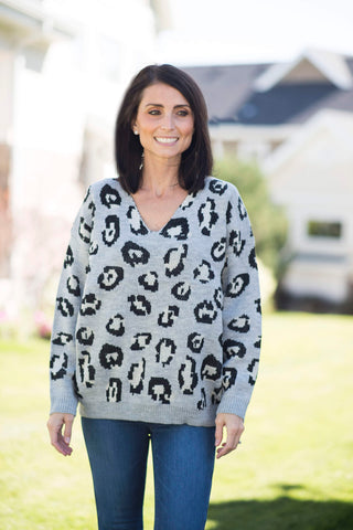 Krissy Animal Print Sweater