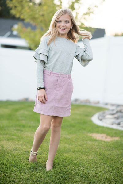 Embry Ruffle Sleeve Sweater