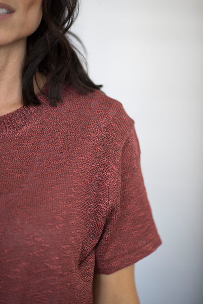 Kaye Tie Front Top in Brick
