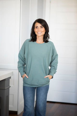 Cannon Sweatshirt in Green Mint