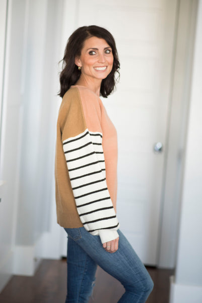 Charly Stripe Sleeve Sweater
