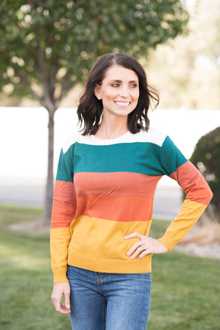 Percy Multi Color Stripe Sweater
