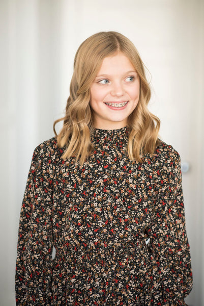 Darci Black Floral Dress
